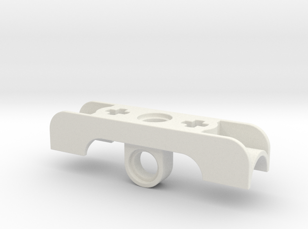 Small Cylinder Bracket in White Natural Versatile Plastic