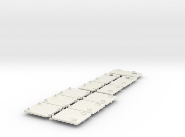 Luken und Türen  1:50 in White Natural Versatile Plastic