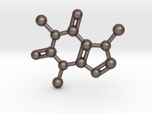 Caffeine molecule Necklace Pendant Big