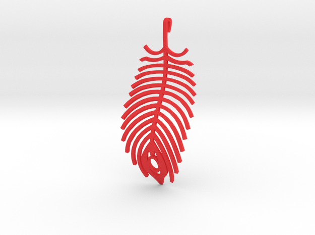 peacock feather earring 3d printed