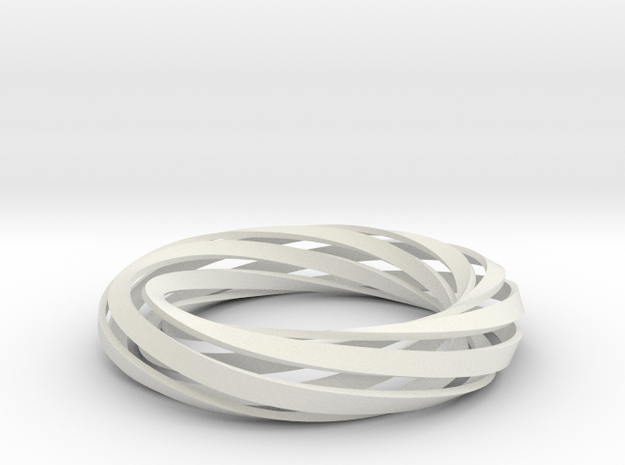 Twist Bracelet (M) in White Natural Versatile Plastic