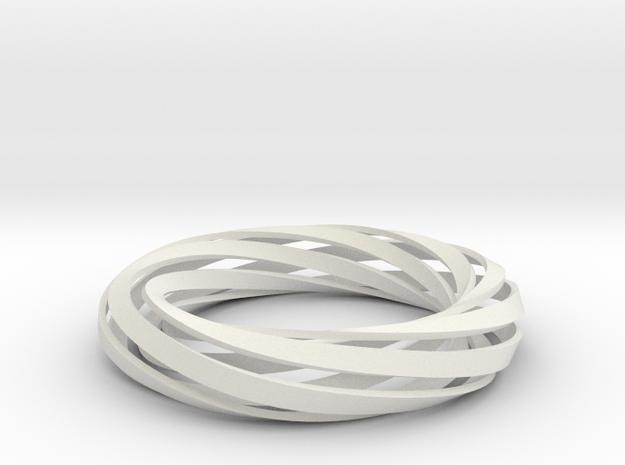 Twist Bracelet (M) in White Natural Versatile Plastic