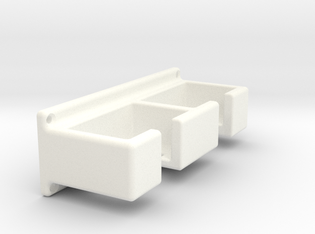 Safety razor rack  (with screw holes) in White Strong & Flexible Polished
