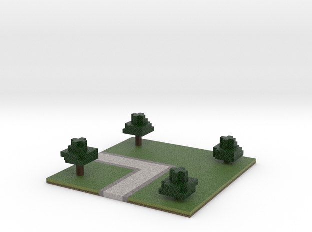 60x60 L path (trees) (2mm series) in Full Color Sandstone