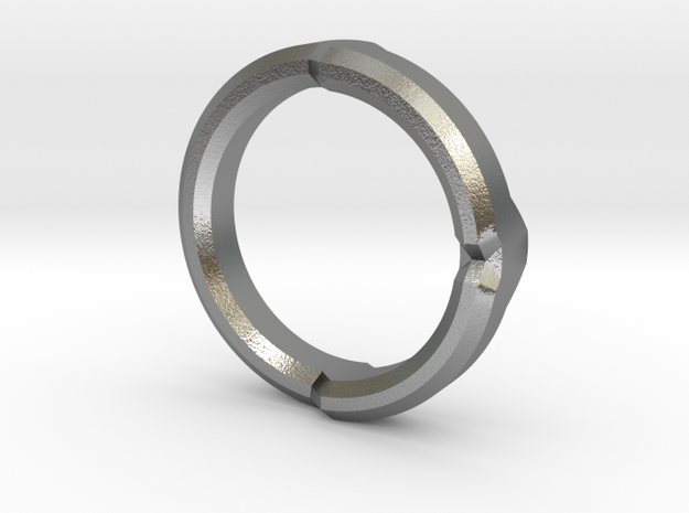 DG Ring 3 in Natural Silver