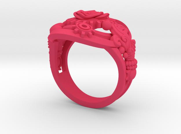 Botanica Mechanicum Ring SIZE 6 3d printed