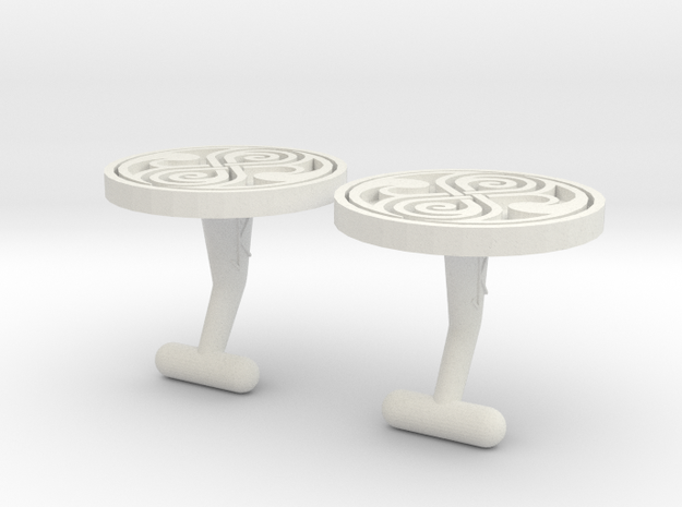 Cufflinks of Rassilon  3d printed