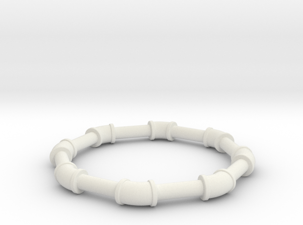 0 75 ell 45 in White Natural Versatile Plastic