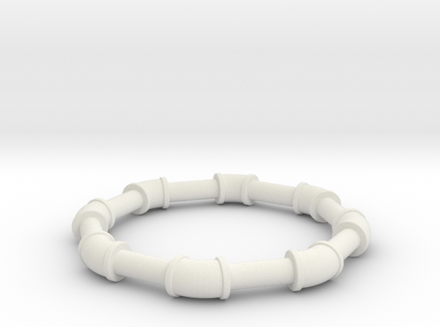 1 ell 45 in White Natural Versatile Plastic