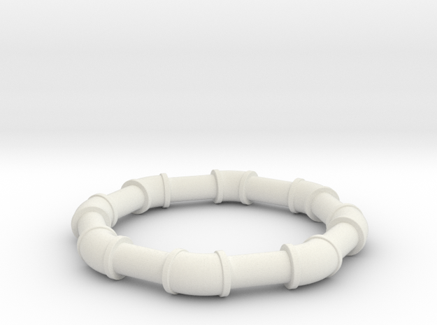 1 25 ell 45 in White Natural Versatile Plastic