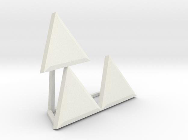 Triforce Meme in White Natural Versatile Plastic