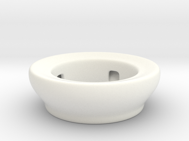 Fake Bowl  in White Processed Versatile Plastic
