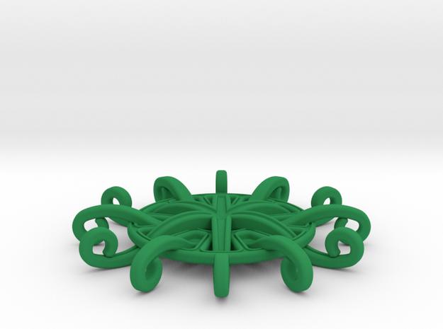 Tentacle Rosette Pendant 3d printed