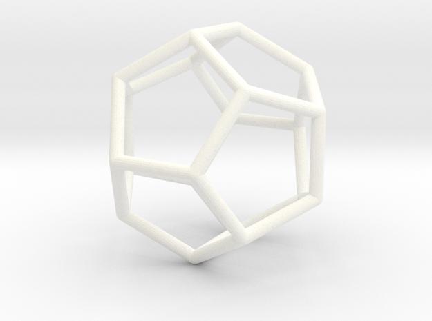 Wire Dodec in White Processed Versatile Plastic