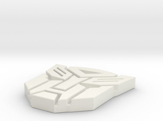 Autobots Pendant in White Strong & Flexible