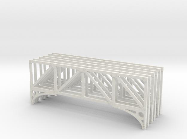 T1 79 Truss X 6 Scaled in White Natural Versatile Plastic