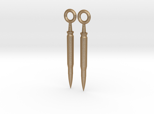 Bullet Earrings 3d printed