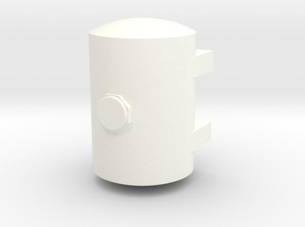1/64 500 Gallon Tank S scale in White Processed Versatile Plastic