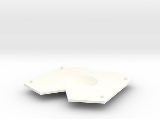 V3 Centre in White Processed Versatile Plastic