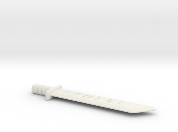 Small Drift Sword Forget in White Natural Versatile Plastic