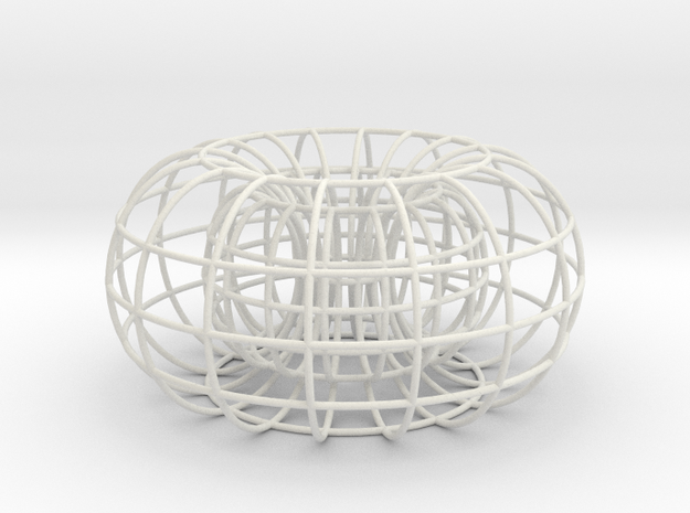 Torus small in White Natural Versatile Plastic