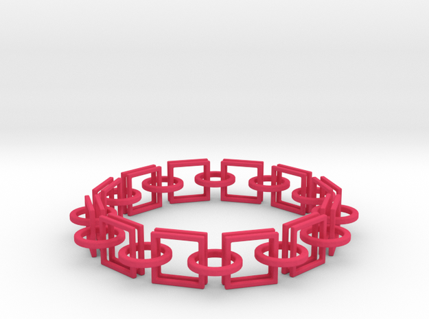 Circles and Squares Bracelets 3d printed