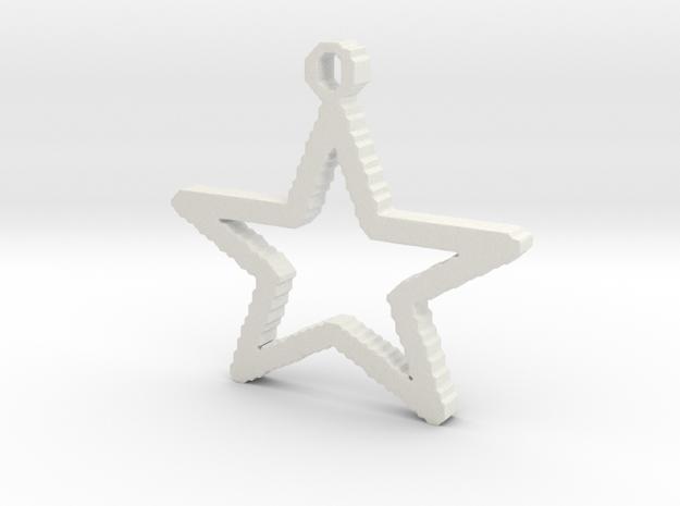 Stellina 2.2 cm in White Natural Versatile Plastic