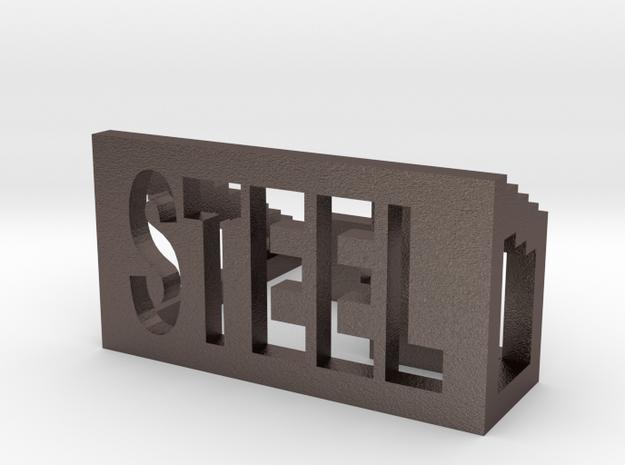 STEEL in Polished Bronzed Silver Steel