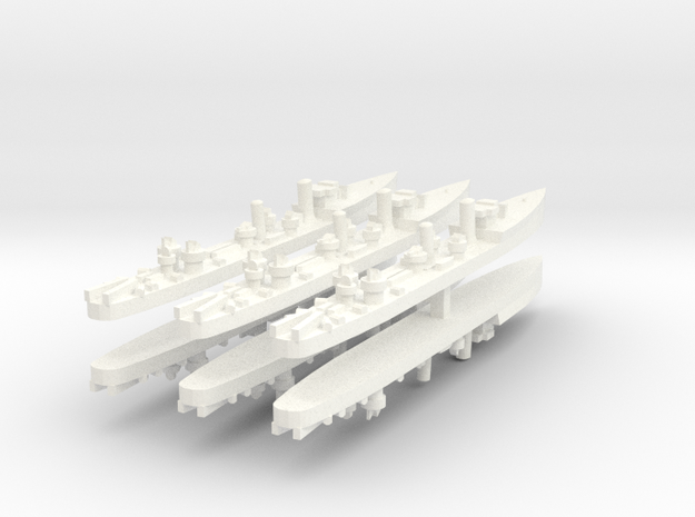 Admiralty S Destroyer (SRE) 1:1800 x6 in White Strong & Flexible Polished