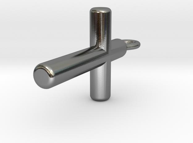 Cylinder Cross Pendant 3d printed