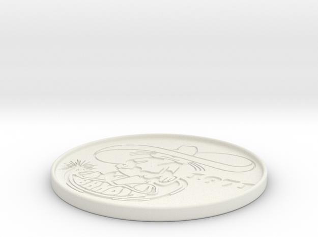 Banditbadge in White Natural Versatile Plastic