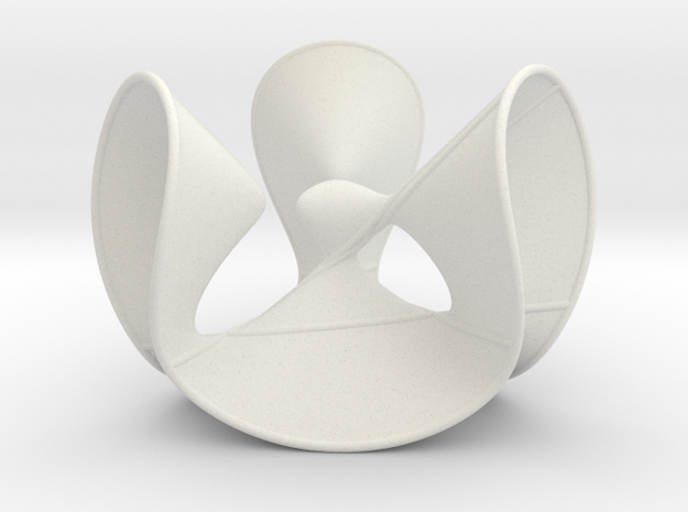 Cubic Surface KM 03 in White Natural Versatile Plastic
