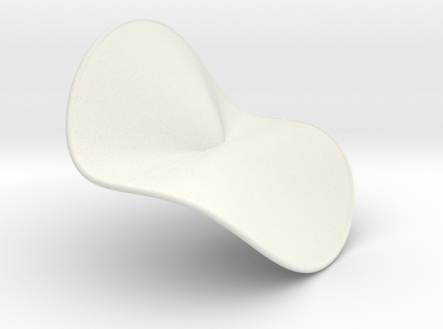 Cubic Surface KM 41 in White Natural Versatile Plastic
