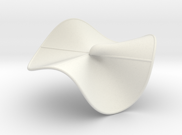 Cubic Surface KM 34 in White Natural Versatile Plastic