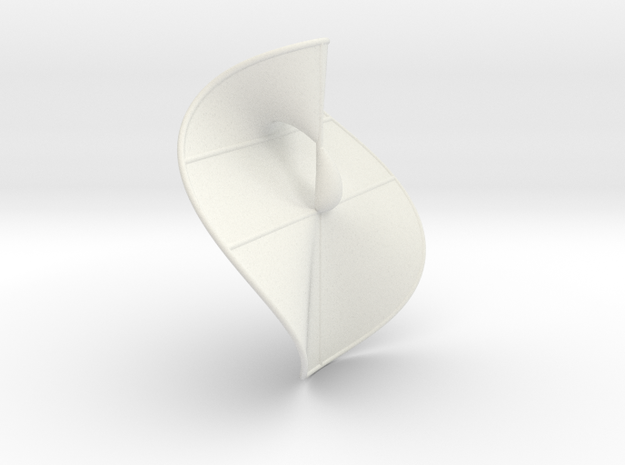 Cubic Surface KM 32 in White Natural Versatile Plastic