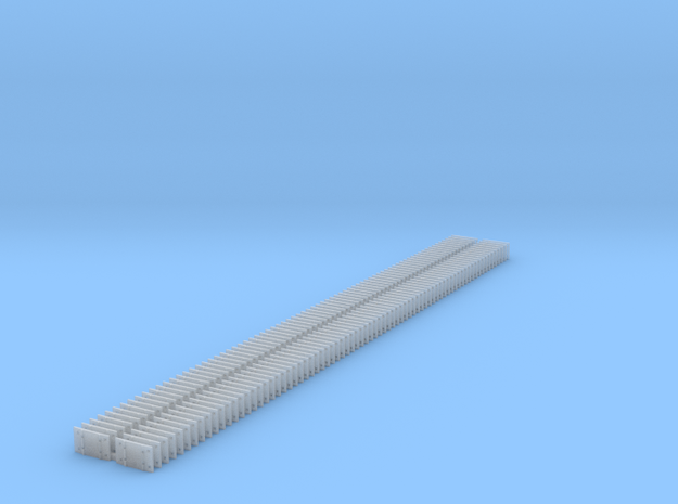 Small 8 Hole tieplate - O Scale - 150 count in Smooth Fine Detail Plastic
