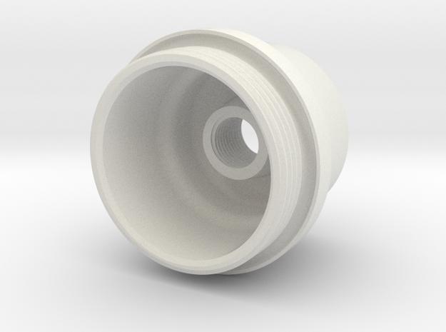 E35FilterCap in White Natural Versatile Plastic