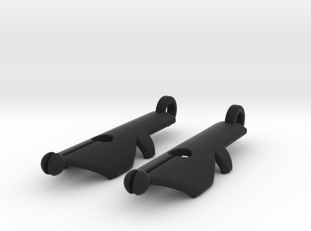 Pen Nib Earrings 3d printed