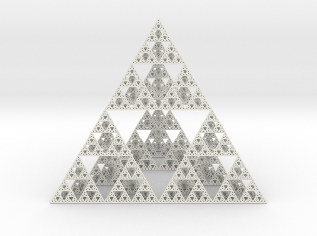 Sierpinski 150mm in White Natural Versatile Plastic