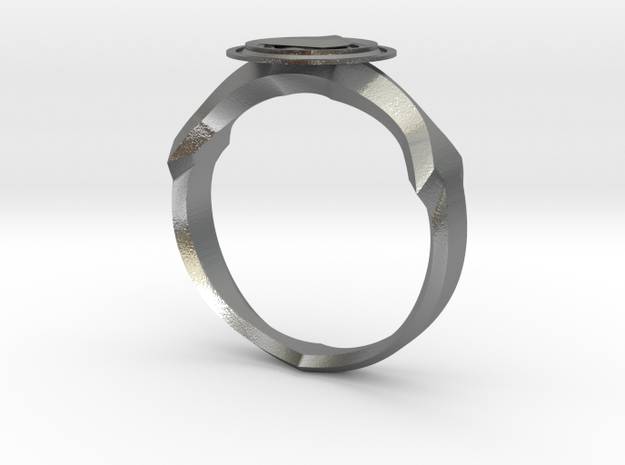 Christian Navigator Ring 2 in Natural Silver