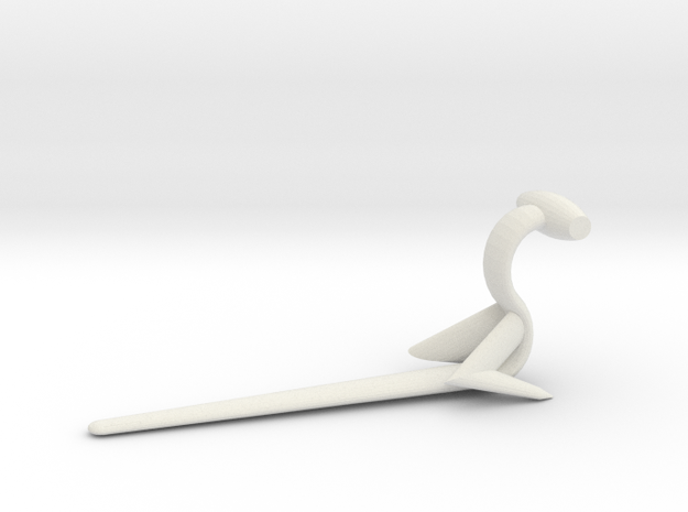 Large Hammerander in White Natural Versatile Plastic