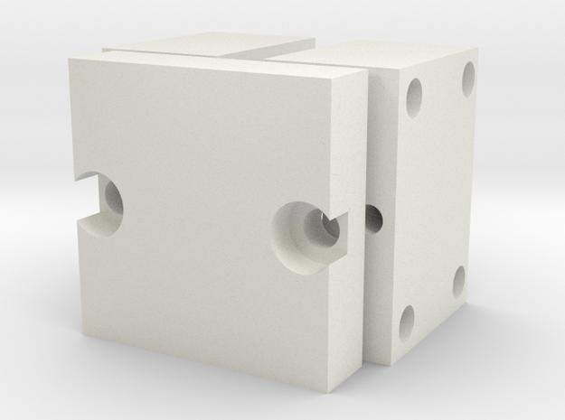 MouldToolElecRub in White Natural Versatile Plastic