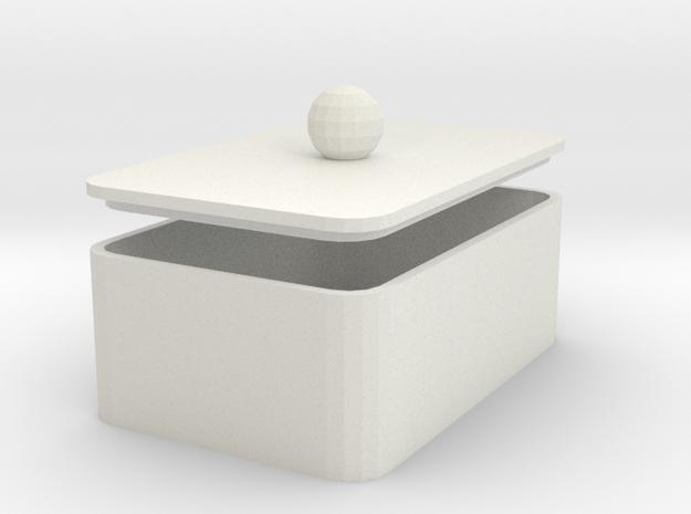 MyBOX 4x6x2 cm in White Natural Versatile Plastic