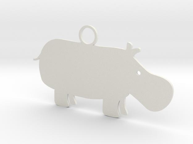 Wildlife Treasures - Hippo in White Natural Versatile Plastic