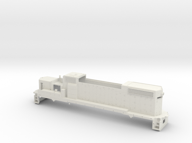 GP38 2 Locomotive Body Only O Scale in White Natural Versatile Plastic
