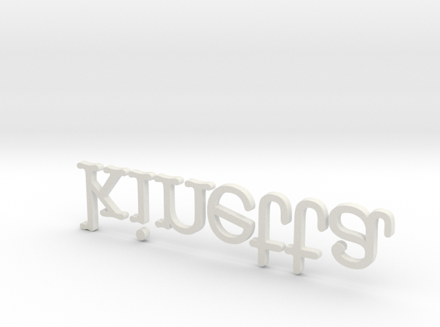 Extruded Kinetta Logo March 2012 3d printed