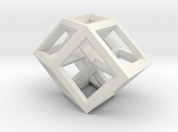 Tesseract  interwoven   2  small 2 (fixed) in White Strong & Flexible
