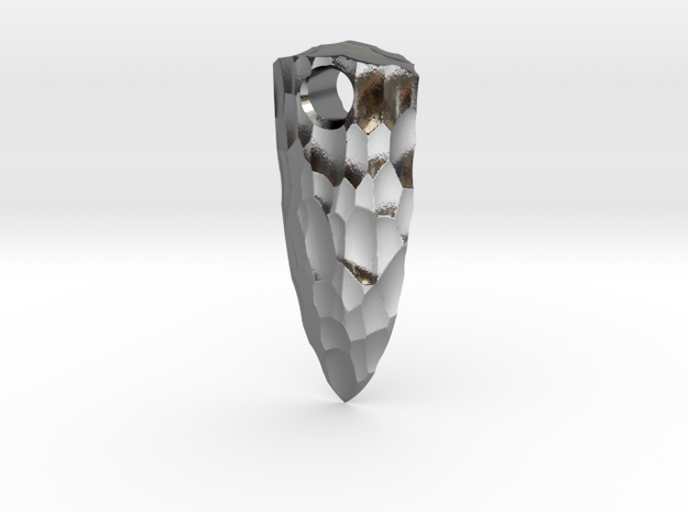spear tip stone age key fob 3d printed