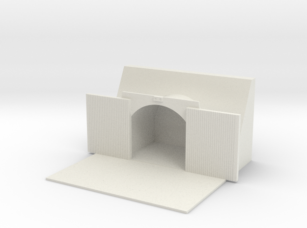 1/700 Large Open Tunnel in White Natural Versatile Plastic