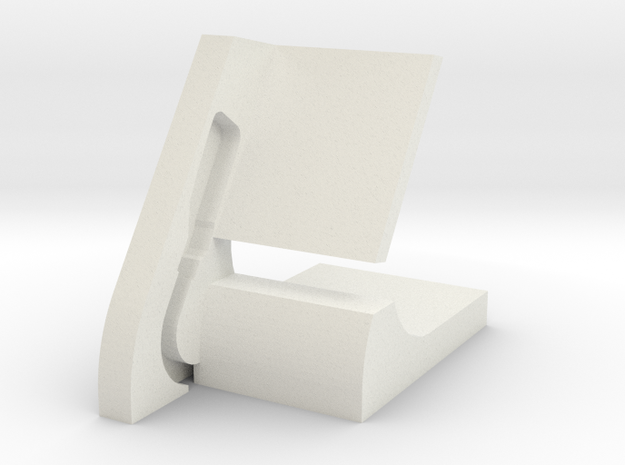 Pebble Watch Dock in White Strong & Flexible